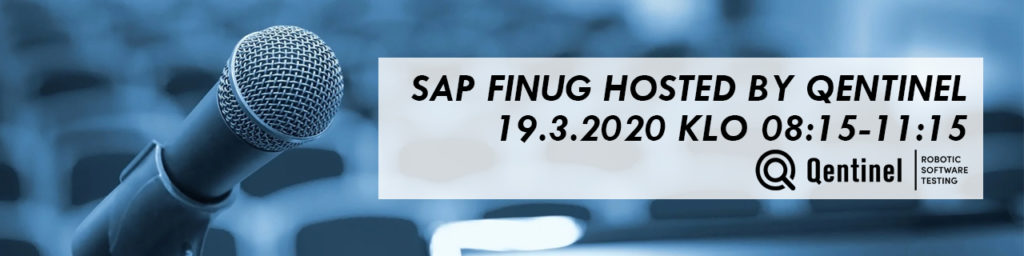 SAP Finug Hosted by Qentinel 19.3.2020