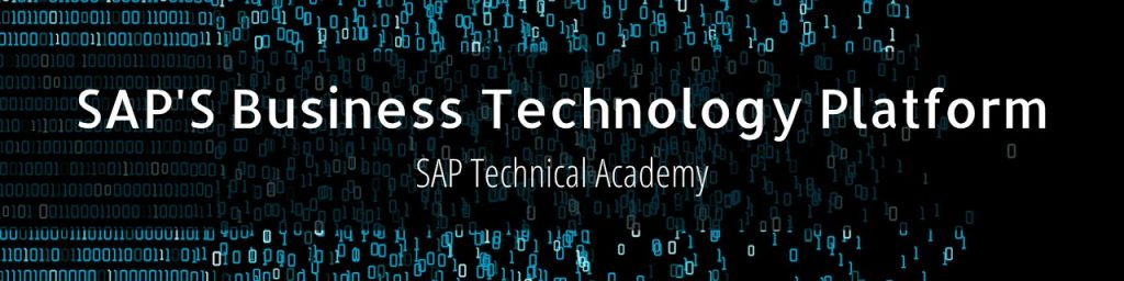 SAP Business Technology Hands-on sessions 2021
