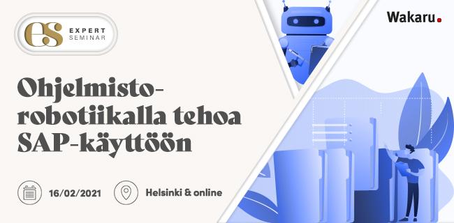 SAP Ohjelmistorobotiikka 16.02.2021