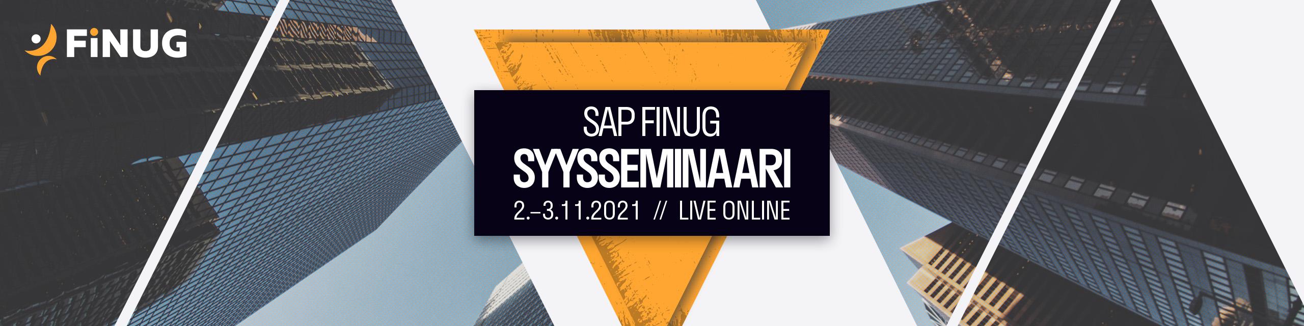 SAP Finug Syysseminaari 2021 Live Online